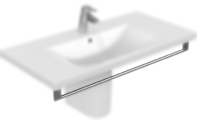 Port-Prosop Ideal Standard Connect Vanity 85cm cu fixare frontala, Chrome
