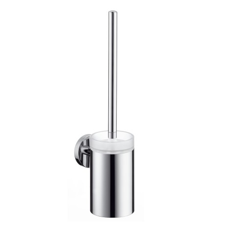 Suport cu perie wc Hansgrohe Logis, crom