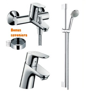 Set baterii Hansgrohe Focus E2 Cada Comfort Set 3in1