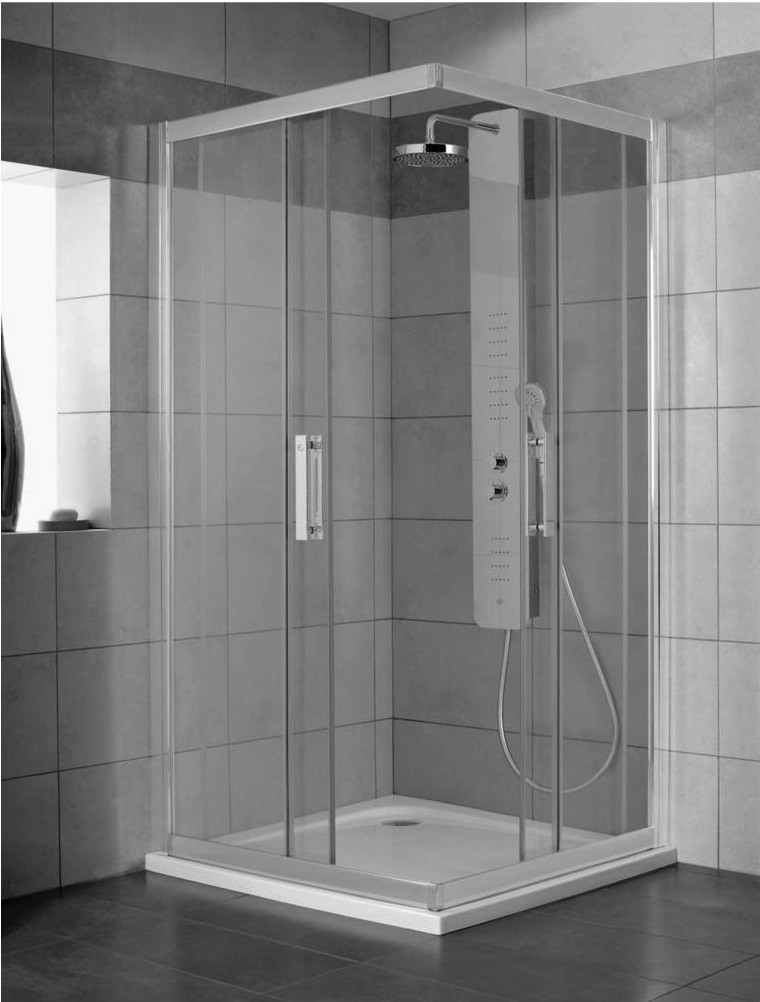 Cabina de dus patrata Ideal Standard Synergy 80x80cm tratata anticalcar Ideal Clean