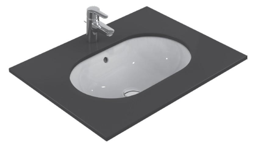 Lavoar Ideal Standard Connect Oval 62x41cm, montare sub blat