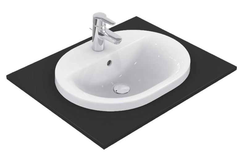 Lavoar Ideal Standard Connect Oval 48x40cm, montare in blat
