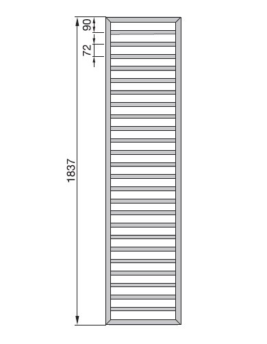 Radiator Zehnder portprosop Subway 1800x600 mm alb