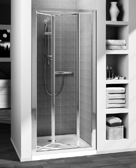Usa plianta Ideal Standard Connect 60 cm sticla transparenta, profil argintiu