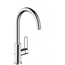 Baterie lavoar Hansgrohe Axor Uno 240 inalta, corp 23, 8 cm crom