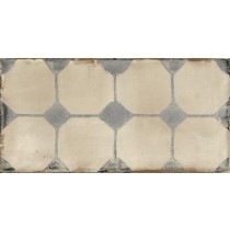 Faianta Iris May 10x20cm, 7mm, Decoro More Frame Beige