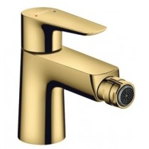 Baterie bideu Hansgrohe Talis E cu ventil pop-up, gold optic lustruit