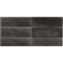 Faianta Diesel living Ribbed 60x20cm, 7mm, Black Wall