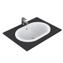 Lavoar Ideal Standard Connect Oval 62x41cm, fara orificiu baterie, montare in blat