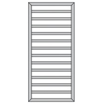 Radiator Zehnder Subway 973x450 mm, crom