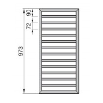 Radiator Zehnder portprosop Subway 1000x450 mm alb