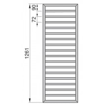 Radiator Zehnder portprosop Subway 1300x450 mm cromat, functionare electrica