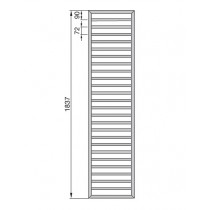 Radiator Zehnder portprosop Subway 1800x600 mm cromat
