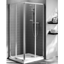 Usa de dus Ideal Standard Connect 85cm sticla transparenta, reversibila, profil argintiu