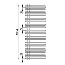 Radiator Zehnder portprosop Yucca Asymmetric Double-layer 1300x400 mm