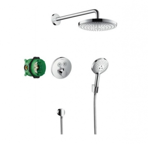 Sistem de dus incastrat termostatat Hansgrohe Design Raindance Select S Shower Select S cu 2 consumatori